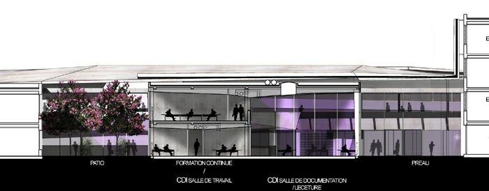 Extension restructuration du lycée M. Genevoix à Marignane (13)-2007 : 24-LMG-17