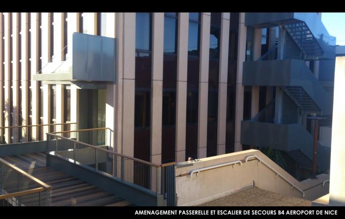 Batiment B4 - Aéroport de Nice : hierro project architecte dplg nice maitrise oeuvre rehabilitation batiment 4 aeroport de nice