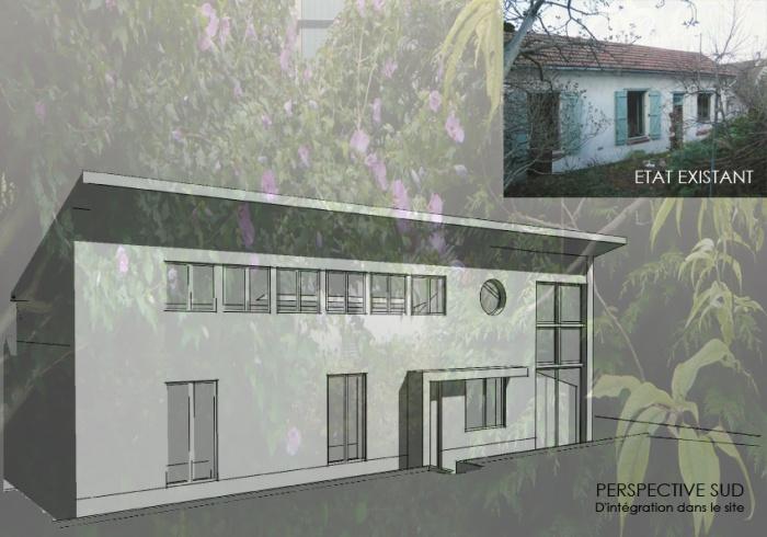 Surélevation d'une maison à usage d'habitation : 5 PH SUD