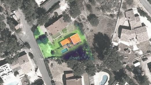 Création d'une Maison Contemporaine Provençale : villa.contemporaine.planmasse.jeremy.azzaro.architecte