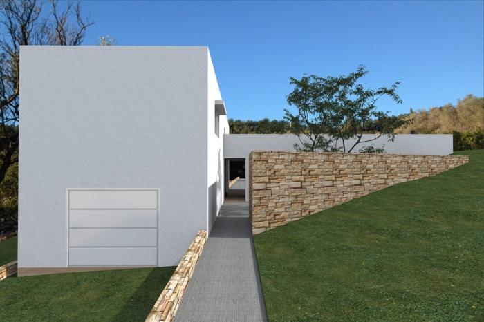 Maison d'architecte basse consommation énergétique : dessin-maison-individuelle-restanques