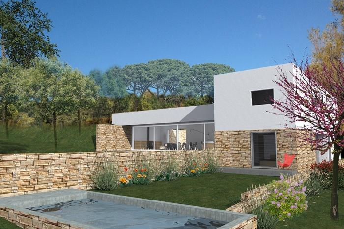 Maison d'architecte basse consommation énergétique