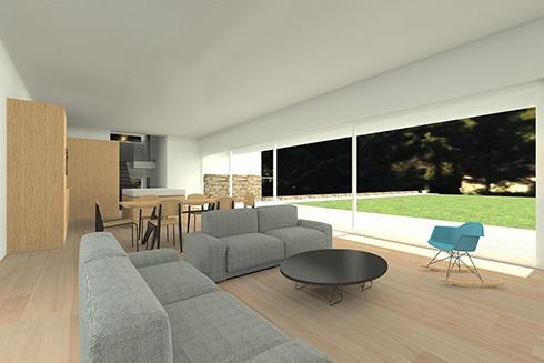 Maison d'architecte basse consommation énergétique : interieur-3d-maison-architecte