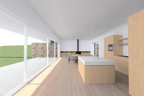 Maison d'architecte basse consommation énergétique : interieur-cuisine-bandol