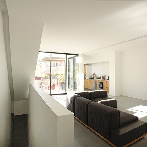 Maison de ville en béton : Ambiance intérieure